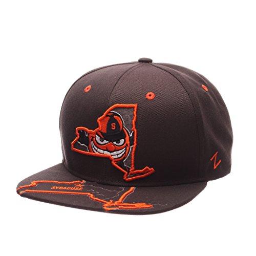 ZHATS NCAA Herren Stateline Snapback Cap Syracuse Orange, verstellbare Größe, Anthrazit