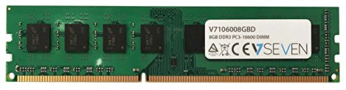 V7 V7106008GBD Desktop DDR3 DIMM Arbeitsspeicher 8GB (1333MHZ, CL9, PC3-10600, 240pin, 1.5 Volt)
