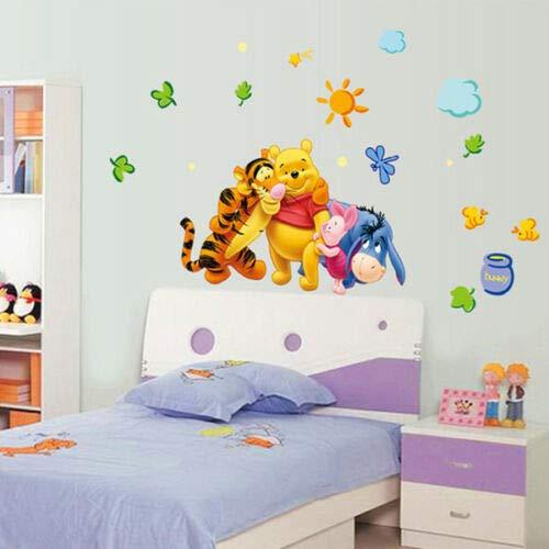 Utopiashi 46x74cm Winnie de Pooh Extraible Pegatinas de Pared calcomanía Arte, Decoracion de habitacion de Bebe niños