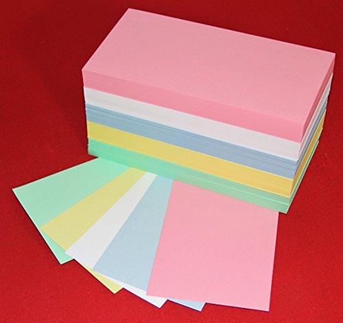 """""""die Dicken"""" 500 Moderationskarten Rechteck 10x20cm sortiert 180 g/qm, Inh. 500 Stück Rechtecke von Datamondial"""