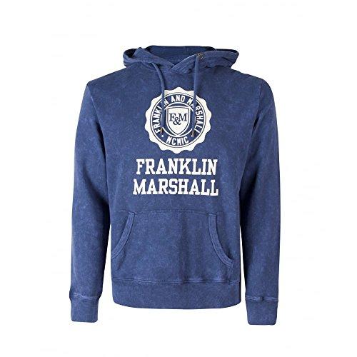 Franklin-Marshall-FLMF248-Overhead-Hoody-Mens-Navy-Sweatshirt-with-Logo
