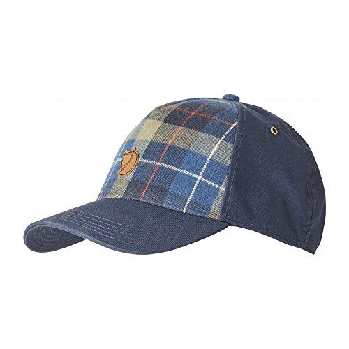 Fjällräven Övik Plaid Cap - Baseball Cap/Schirmmütze, dark navy blue, L-XL