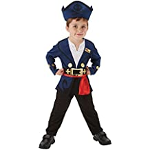 Jake - Jake y los Piratas de Nunca Jamás - Disfraz Infantil - Pequeño -  104cm 32e6ff5926ba