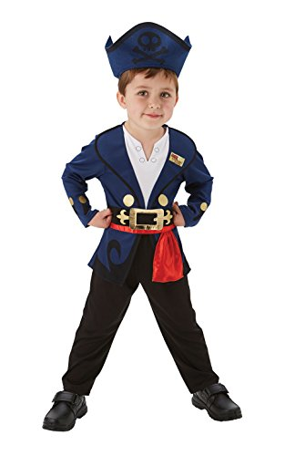 Rubies Kinder Kostüm Jake Pirate Deluxe Toddler Jungen Kostüm Fasching (Kind Kostüme Jake)