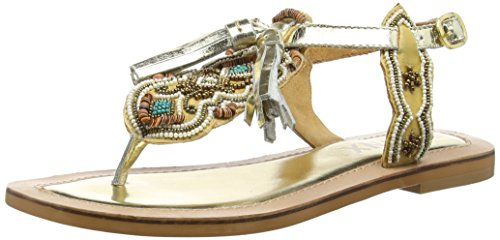 Bronx Biksax, Sandales Bride cheville femme Or - Gold (1649 Gold/bronze)