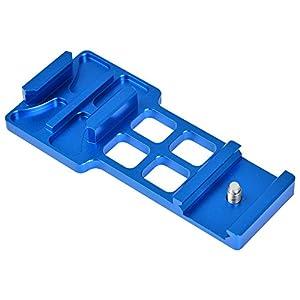 MENGS® aluminium picatinny weber pistolet rail côté de montage pour GoPro Hero caméra 3/4 sport - bleu