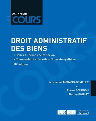 Droit administratif des biens : Cours - Thèmes de réflexion - Commentaires d'arrêts - Notes de synthèse