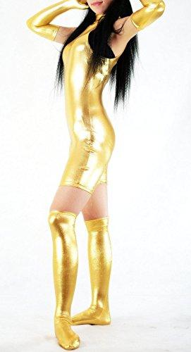 Schwarz gummiert Avatar Kleidung/Kostüme/Kleidung/Body Gymnastik-ärmellos-Kleidung/Körper (Frauen Für Kostüm Avatar)