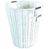 Arpan White Resin Plastic Strong Round Waste Paper Bin/Basket/Storage -Ideal For Home, Office, Hotels
