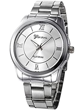Armbanduhren für Frauen - Xjp Fashion Edelstahl Analog Quartz Uhren (Silver)