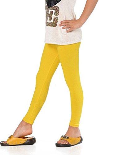 Mädchen Leggings Leggins Lang 140, Gelb
