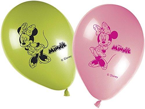 pelstift Disney Minnie Maus Happy Birthday Banner (Rote Minnie Maus Ballons)