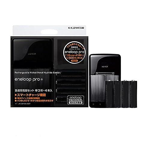 bq-CC21Rapid Chargeur avec 4eneloop pro AA NiMH batteries
