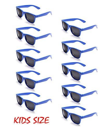 Onnea 10 Stücke Party Favorisiert Sonnenbrillen UV400 Schutz für Kinder Nur (10 Blau)
