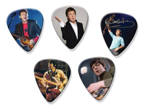 Paul Mccartney Beatles 5 X Signed Gitarre Pick Plektrums Plektrons