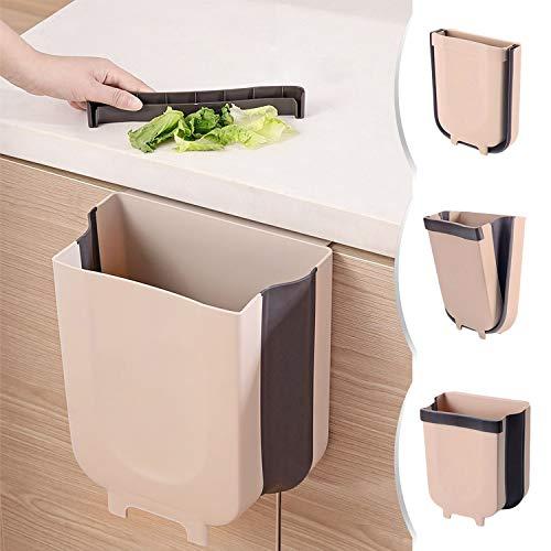 Cubo Basura Cocina,9l Montaje en la Pared Basura Plegable para Armarios de Cocina, Automóviles, Dormitorios,Oficina...