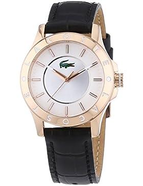 Lacoste Damen-Armbanduhr XS MADEIRA Analog Quarz Leder 2000860