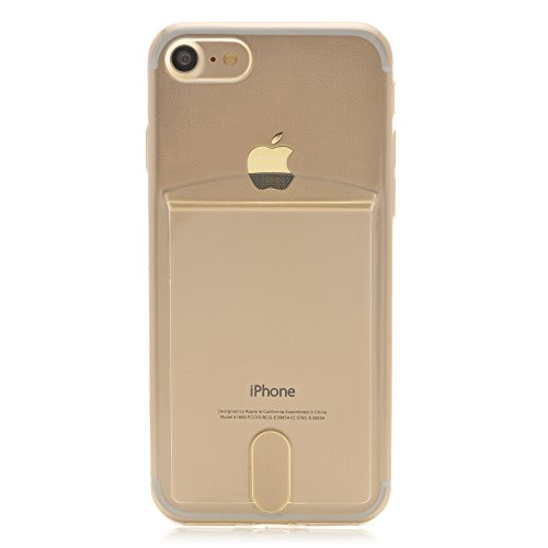 iProtect coque pour Apple iPhone 7 souple en TPU avec compartiment supplémentaire pour photos Polaroid Instax Mini