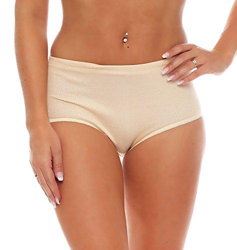 3er Pack Damen Slips ohne Seitennähte (Schlüpfer, Unterhose) Nr. 408 Hautfarben