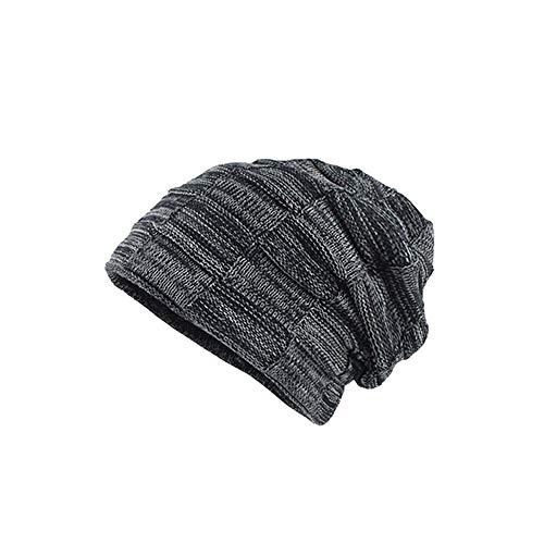 MMLC Long Slouch Beanie Grobstrick Mütze für Damen Wintermütze (Navy) -