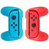 WindTeco Nintendo Switch Joy-Con Grip, [2er Pack] Anti-Rutsch Griff Komfort Griff Griffhalter für Nintendo Switch Joy-con Controller (Blau / Rot)