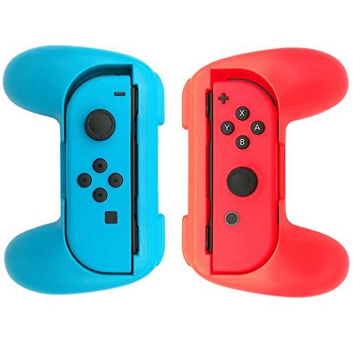 WindTeco Nintendo Switch Joy-Con Grip, [2 unidades] Ultimate Comfort Grip para Nintendo Control Joy-Cons Left & Right Controllers, Azul / Rojo