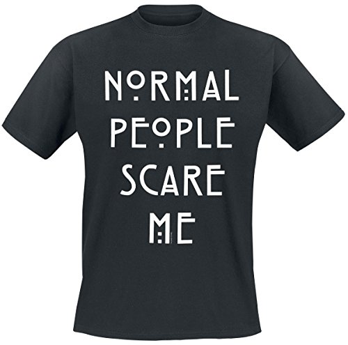 T-shirt American Horror Story Normal People Scare Me coton noir - M