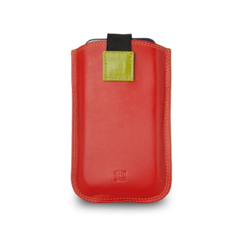 Custodia iPhone SE/5S/4S in pelle multicolore con Pull Up di DUDU Rosso