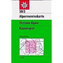 Ötztaler Alpen - Kaunergrat: Topographische Karte 1:25000 (Alpenvereinskarten)