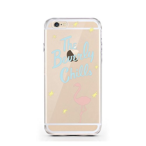 iPhone 7 Hülle von licaso® für das Apple iPhone 7 aus TPU Silikon I saw that Karma Muster ultra-dünn schützt Dein iPhone 7 & ist stylisch Schutzhülle Bumper in einem (iPhone 7, I saw that Karma) Flamingo Beverly Chills