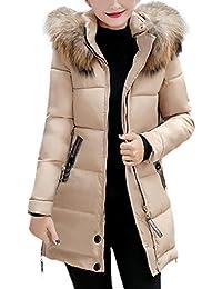 0b8d17b3bf49f7 Elecenty Damen Winterjacke,Wintermantel Lange Daunenjacke Parka Jacke  Outwear Frauen Winter Warm Daunenmantel…