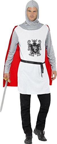 Herren Fancy Party Kleid Mittelalter King Komplettes Outfit Knight Kostüm Wirtschaft, Weiß
