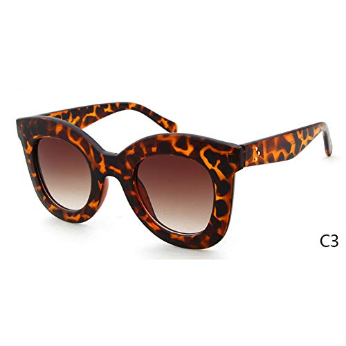 ZRTYJ Sonnenbrille White Cat Eye Sonnenbrille Cl Shadow Damen Superstar Kim Kardashian Audrey Flat Top Cateye Sonnenbrille Shades