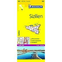 Michelin Sizilien: Straßen- und Tourismuskarte 1:200.000 (MICHELIN Localkarten)