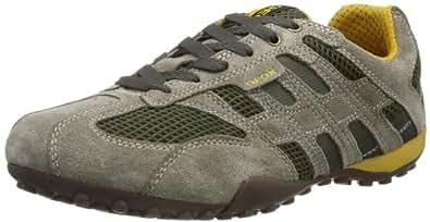 Geox UOMO SNAKE K, Herren Sneakers, Beige (TAUPE/DK GREENC6493), 41 EU