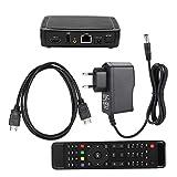 Caja de TV Digital - USB Via Red Set-Top Box Smart TV IPTV Construido en MPEG Decoder Intelligent TV Box(Enchufe de la UE)