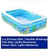tlue adhesivo htub 2017Baby & hinchable infantil Pool grandes familia piscinas Ocean Ball Pool Después de bañera verdickte, 308x182x60cm