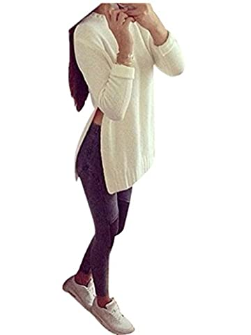Pull Femme Mode féminine à manches longues Pull en maille Cardigan (S-Buste:37