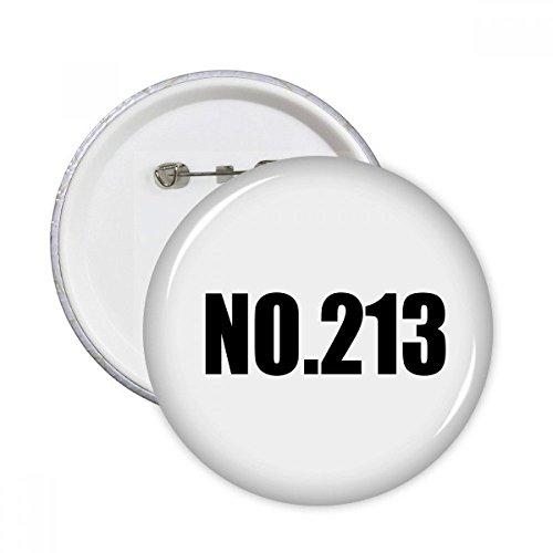 213 Bekleidung (DIYthinker Glück No.213 Nummer Name Runde Stifte Abzeichen-Knopf Kleidung Dekoration 5pcs Geschenk Mehrfarbig S)