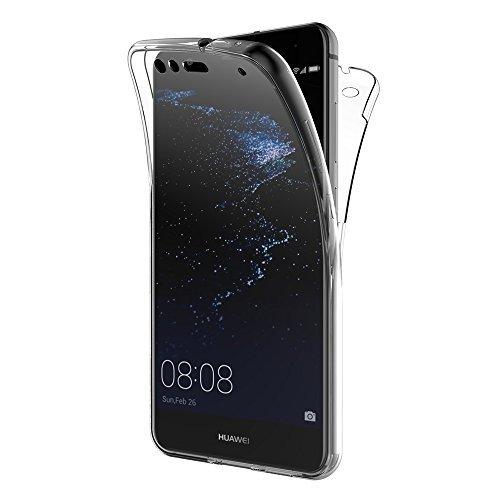 Huawei P10 Lite Hülle, AICEK 360° Full Body Transparent Silikon Schutzhülle für Huawei P10 Lite Case Crystal Clear Durchsichtige TPU Bumper P10 Lite Handyhülle (5,2 Zoll)