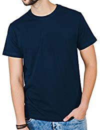 Men's Navy Blue Round Neck T-Shirt