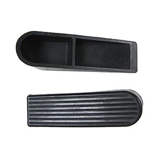 Home Premium Rubber Door Stopper - Diadia Multi Surface Door Stop Wedge with Heavy Duty Design - Flexible and Non Scratching Door Holder (Black)