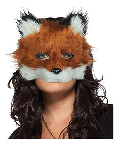 Ziel Kostüm Fox - Horror-Shop Fuchs Maske One Size Kunstfell braun-weiߠ