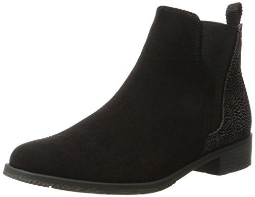 Marco Tozzi Damen 25321 Chelsea Boots, Schwarz (Black Comb), 38 EU (Chelsea Schuhe Schwarz)