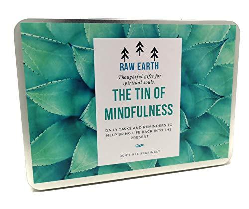 Achtsamkeit Geschenk - 31 schöne Tageskarten mit Aufgaben und Herausforderungen, 48 Gefühle Notizen, gesinnte Postkarten und mehr - das perfekte geistige Geschenk für mehr Wohlbefinden - Raw Earth