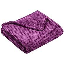 DecoKing Henry Manta de Microfibra 70x150 Extra Suave y Blanda Muy Cómoda Caliente y Ligera Violeta