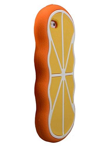 Forme d'agrumes en caoutchouc souple en silicone cas 3D pour iPhone 6, 6s (Rose) © Sloth Cases Orange
