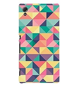 Fuson colourful triangle theme Designer Back Case Cover forSony Xperia Z3+ :: Sony Xperia Z3 Plus :: Sony Xperia Z3+ dual :: Sony Xperia Z3 Plus E6533 E6553 :: Sony Xperia Z4 -P-1439