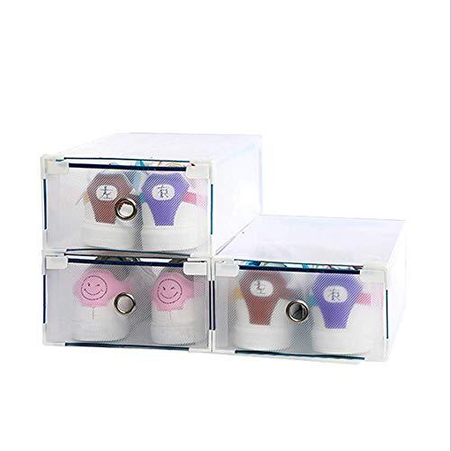 NNDQ Faltbare Plastikschuhe Boxen Container für Closet Organize, Damen Herren Schuh Aufbewahrungsbox, stapelbare Schuh Container Regal, Set von 12 - Schuhe Jordan Für Aufbewahrungsbox