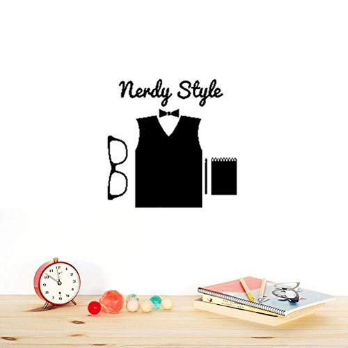 Wandaufkleber Schlafzimmer Hipster Nerdy Style High Fashion Brille